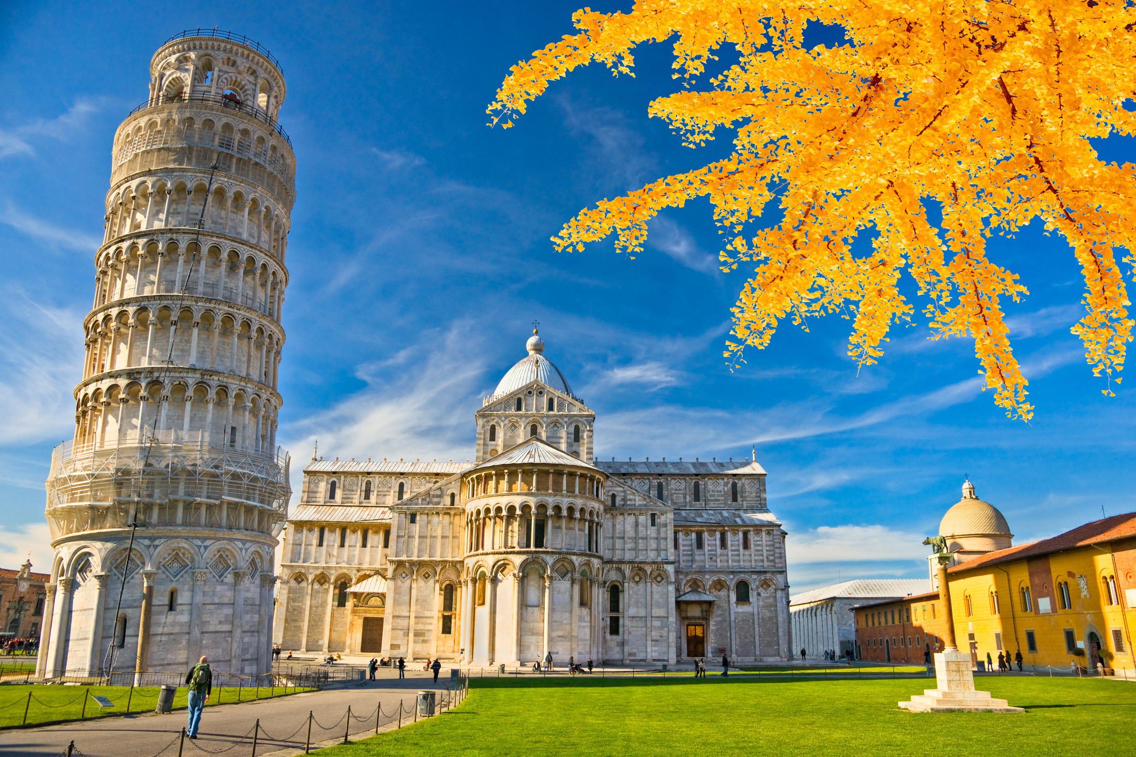 Pisa Tourist Place For Italy